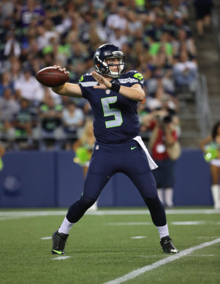 Jake Heaps with the Seattle Seahawks